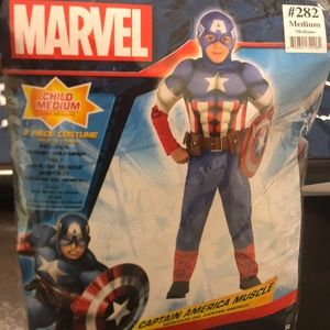 Captain America - Muscle Costume - Sz-Md